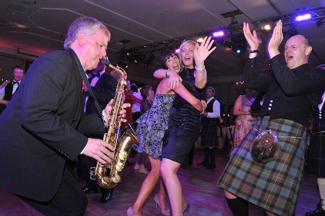 Sax on the dance floor