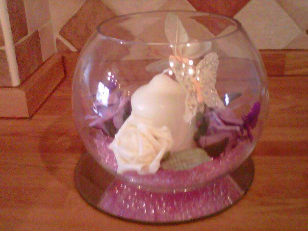 Lilac and White Table Decoration