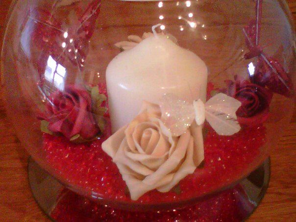 Red and Cream Table Decoration