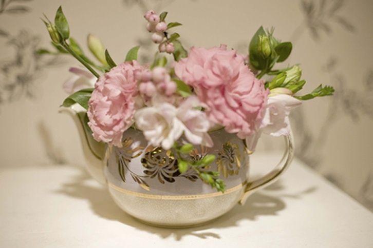 Floral teapot prop