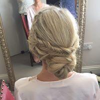 A Bridal braid and bun