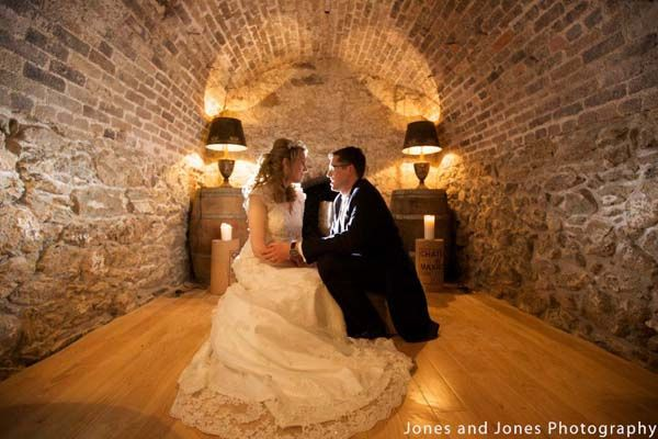 Couple in the wedding caves