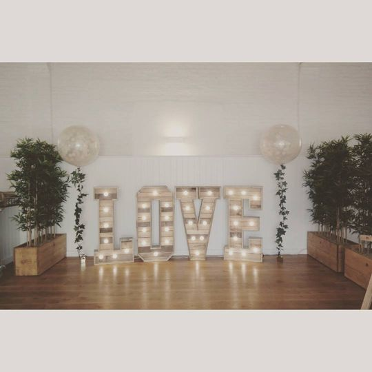 4ft Rustic LOVE Letters