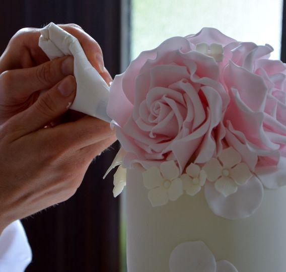 Pink sugar roses