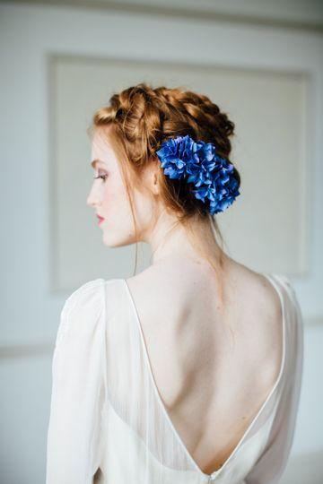 Silk Hydrangea Comb
