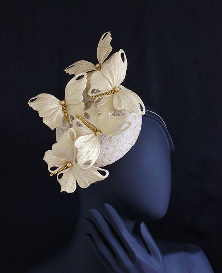 Golden Butterfly Hat