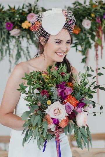 Bridal Velvet Hat