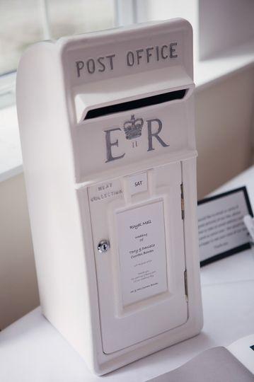 Wedding royal mail post box