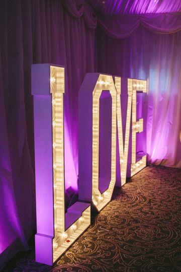 "Large ""love"" letters"