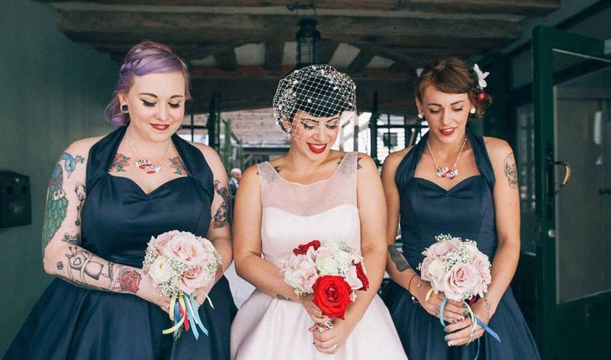 Vintage bridal hair & makeup