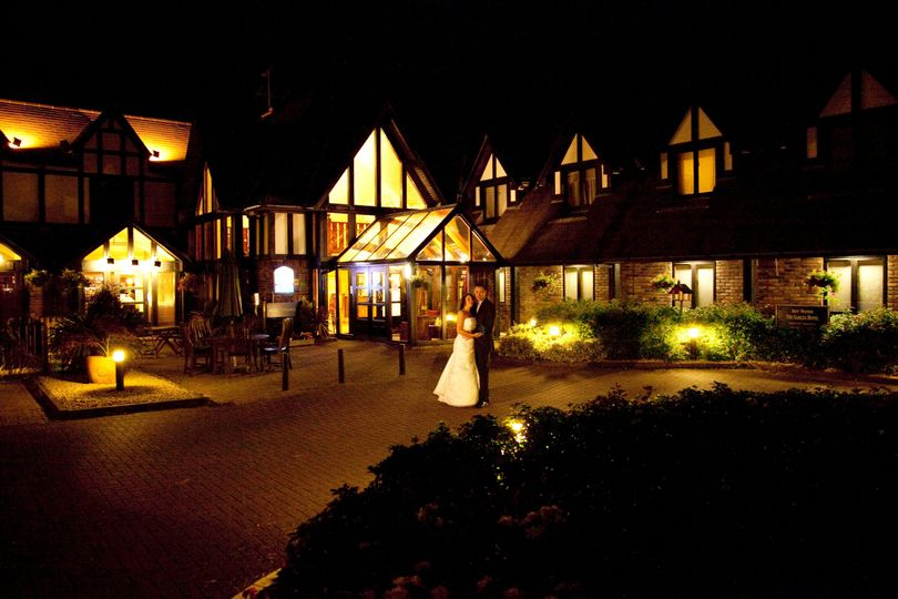 The Gables Hotel  at night