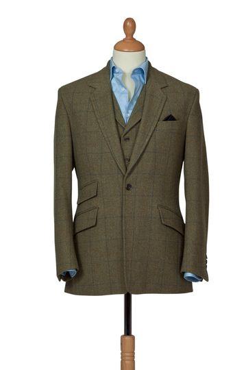 Bespoke wedding tweed suit