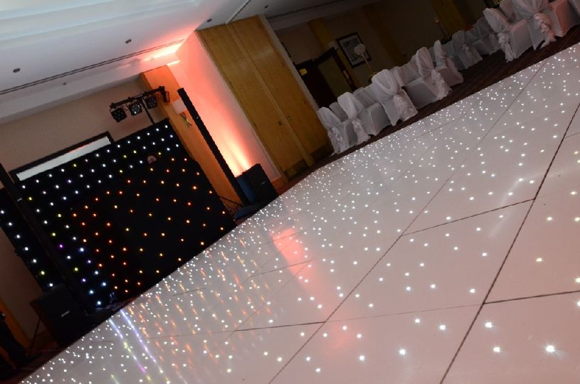 White led dance floors