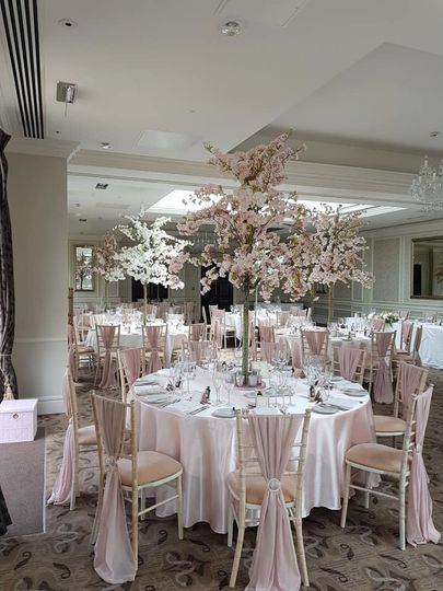 Table Linen, Sashes & Blossoms
