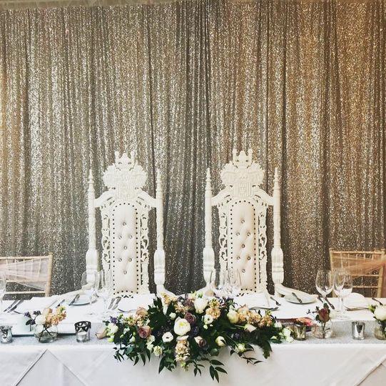 Sequn Backdrop & Throne Chairs