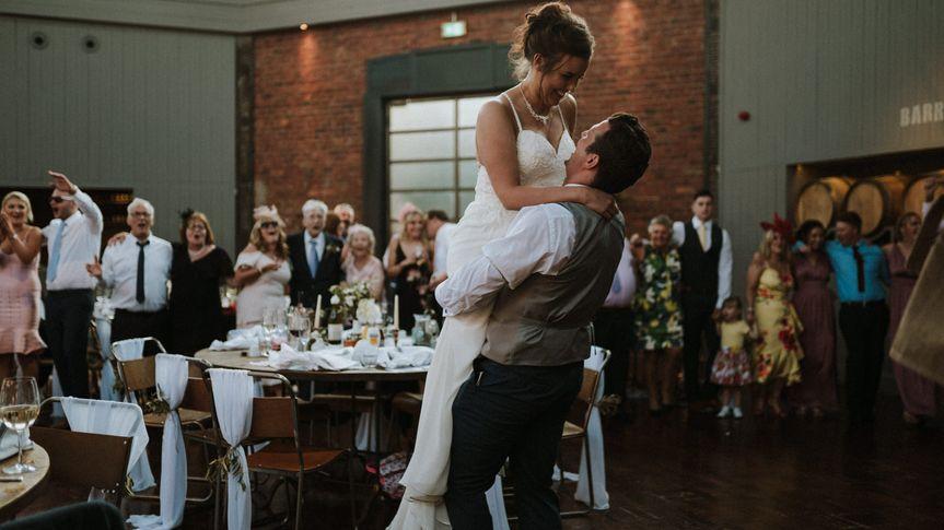 Bride and groom wylam