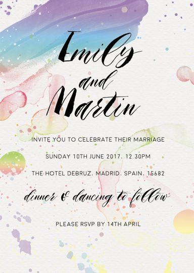 Paint invite
