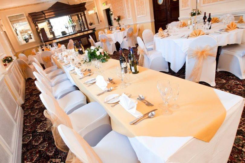 Wedding breakfast top table
