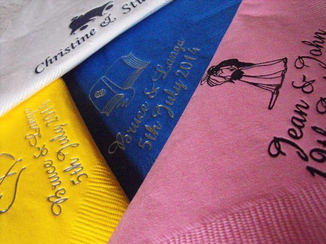 Personalised napkins