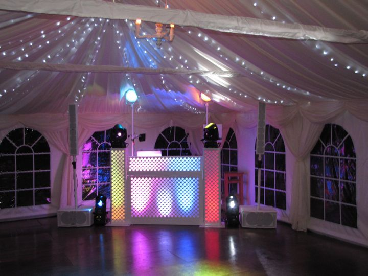 Typical marquee set up
