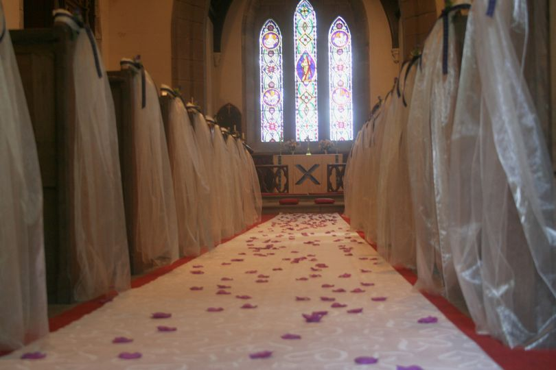 Bespoke church pews & aisle
