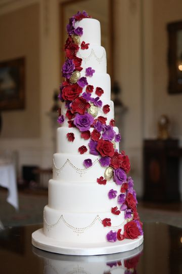 asian wedding cakes in manchester floral wedding cake from la cake company photos 10876