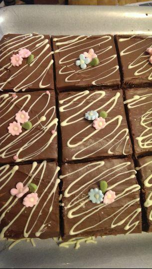 Fragrance inspired brownies