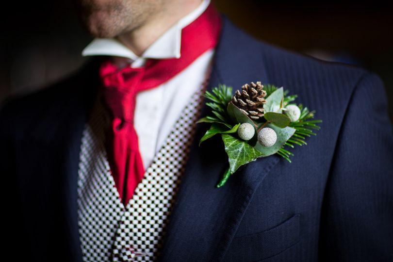 Pinecone buttonhole