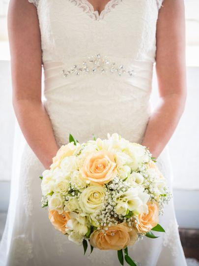 All round hand tie bouquet