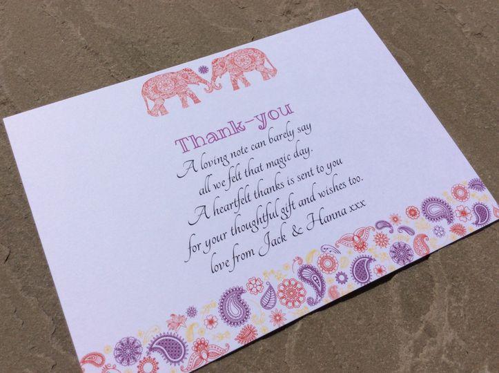 Elephant invitation style