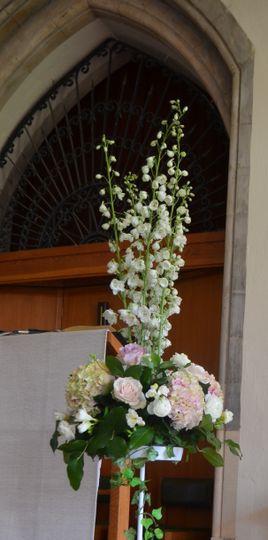 Church summer pedestal
