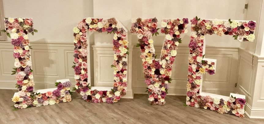 5ft Floral Love Letters