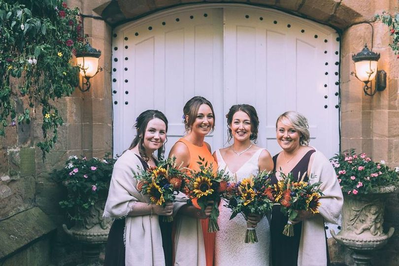 Autumn sunflower wedding