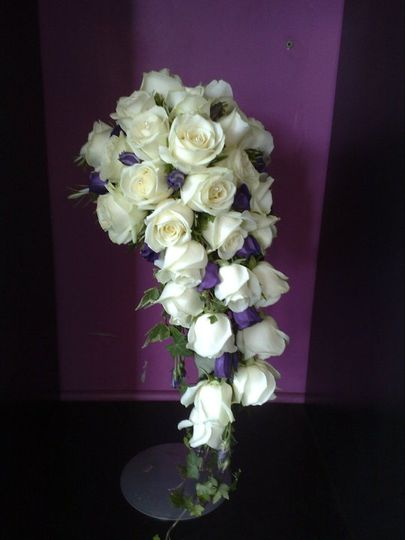 Semi crescent shaped bouquet