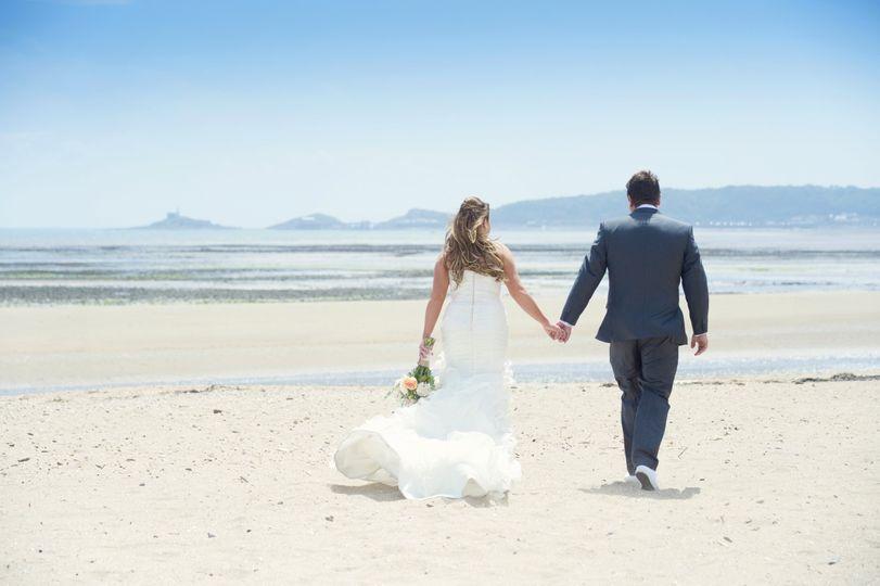 Swansea bay wedding couple