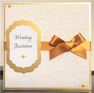 Gold Swirl Invitation