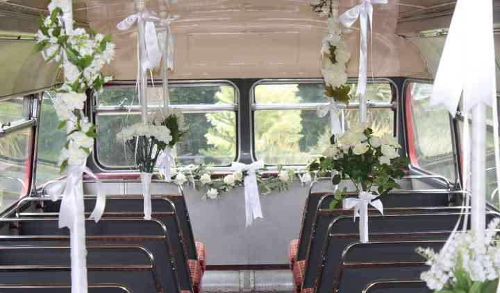 Wedding Bus Flowers