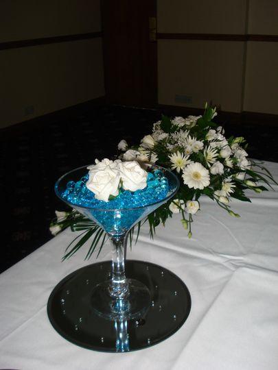 Small Martini Vase Centre Piec