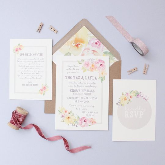 Floral Sweetheart Invitation