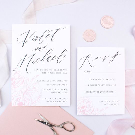 Delicate Blush Invite