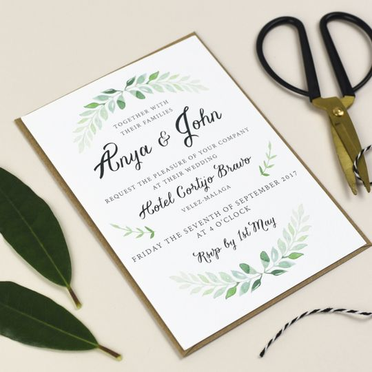 Green Vine Invitation