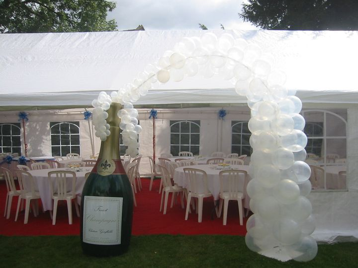 6ft Champagne arch