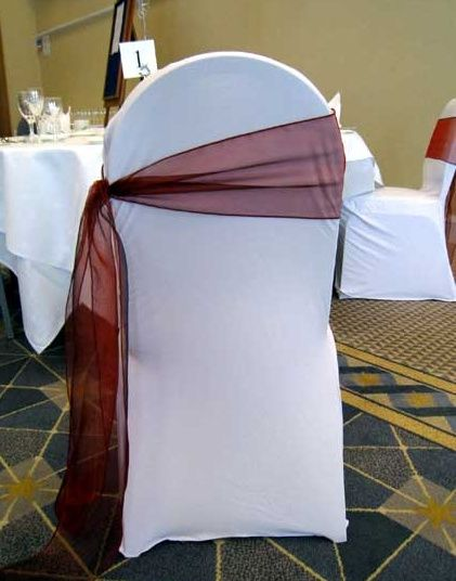 Chair cover with co-ordinating sash