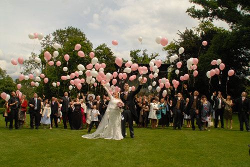 Wedding Balloon Release From Aztec Balloons