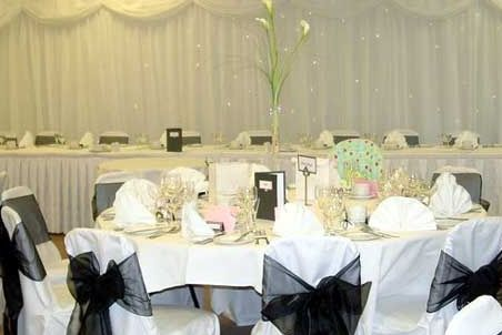 Chair covers and back drop