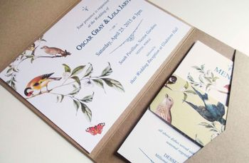 20 Stunning Pocketfold Wedding Invitations to Wow Your Guests
