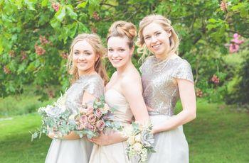 25 Stunning Silver Bridesmaid Dresses