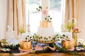 11 Steal-Worthy Metallic Gold Wedding Cake Ideas
