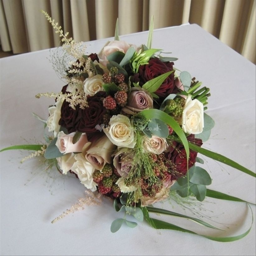 original autumn wedding bouquets. Black Bedroom Furniture Sets. Home Design Ideas