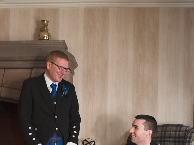 Gary and Angela's wedding in Fintry, Stirling 8